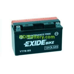 Batería AGM Exide moto YT7B-BS 12 V. 6,5Ah.